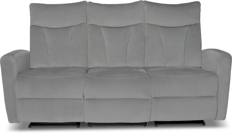 Mandy Microsuede Reclining Sofa – Grey