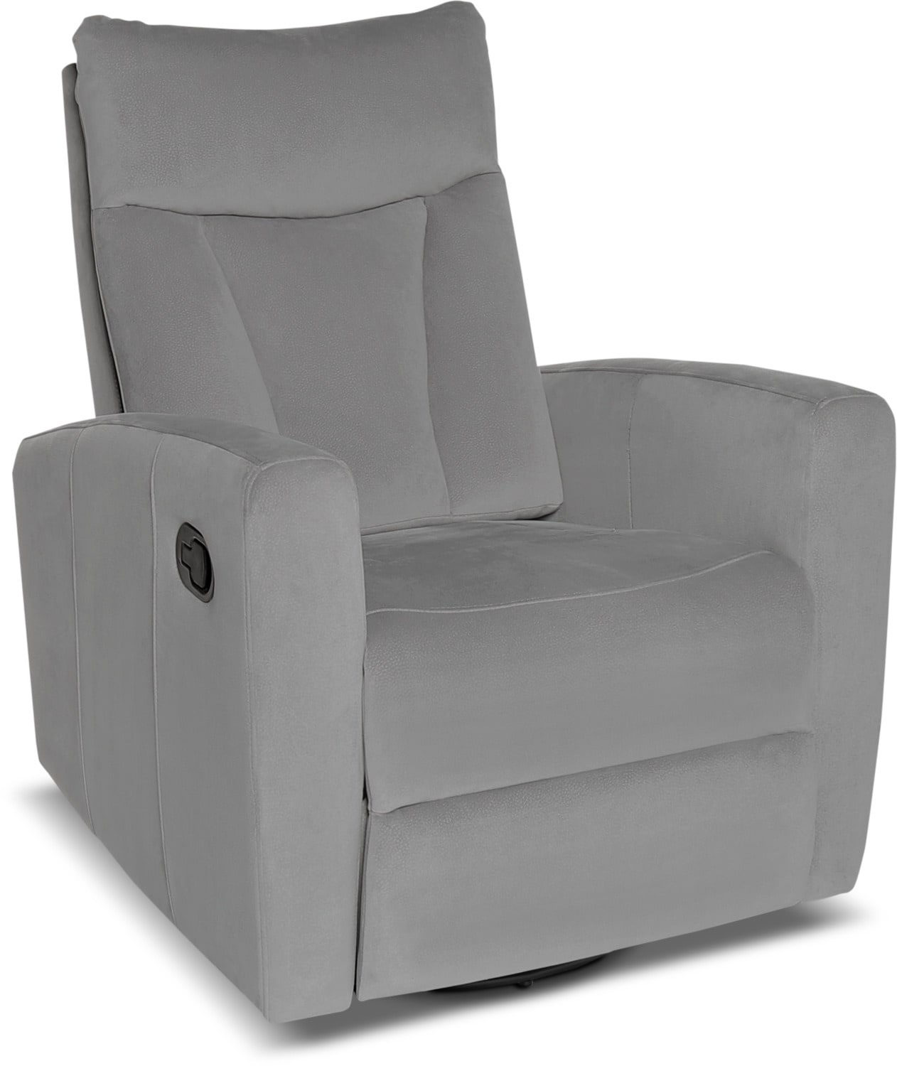 Mandy Microsuede Reclining Chair – Grey