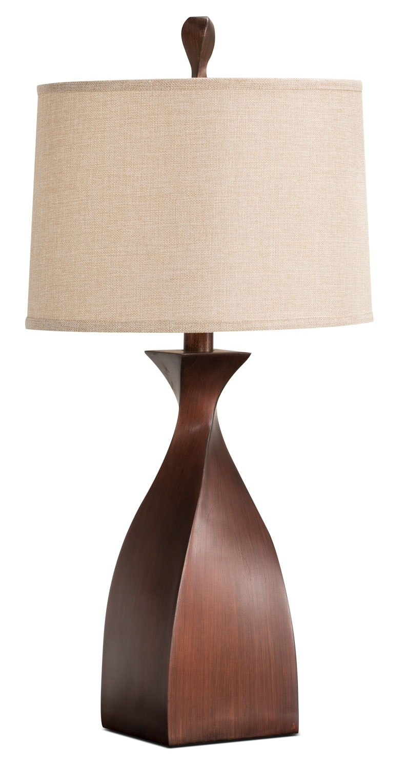 Copper Twist Table Lamp