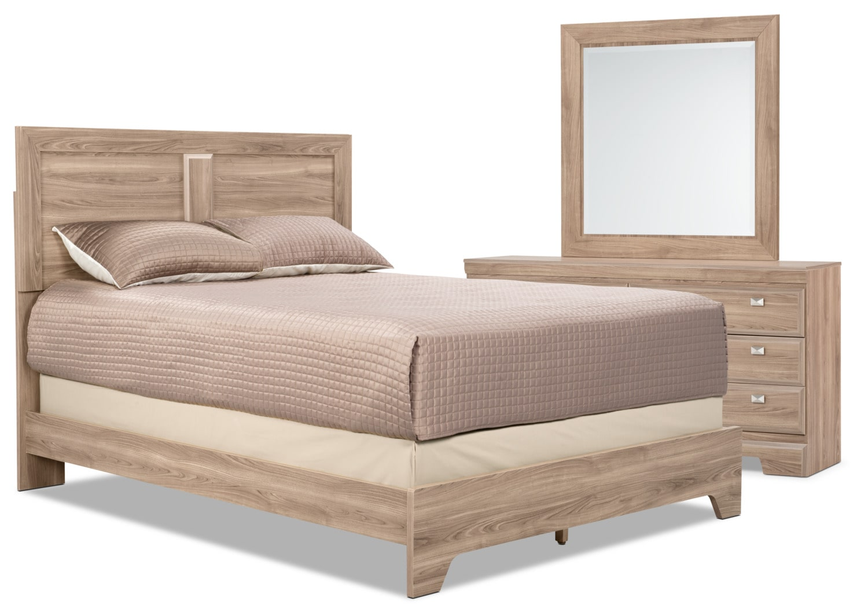 Ensemble de chambre à coucher Yorkdale Light 5 pièces avec très grand lit