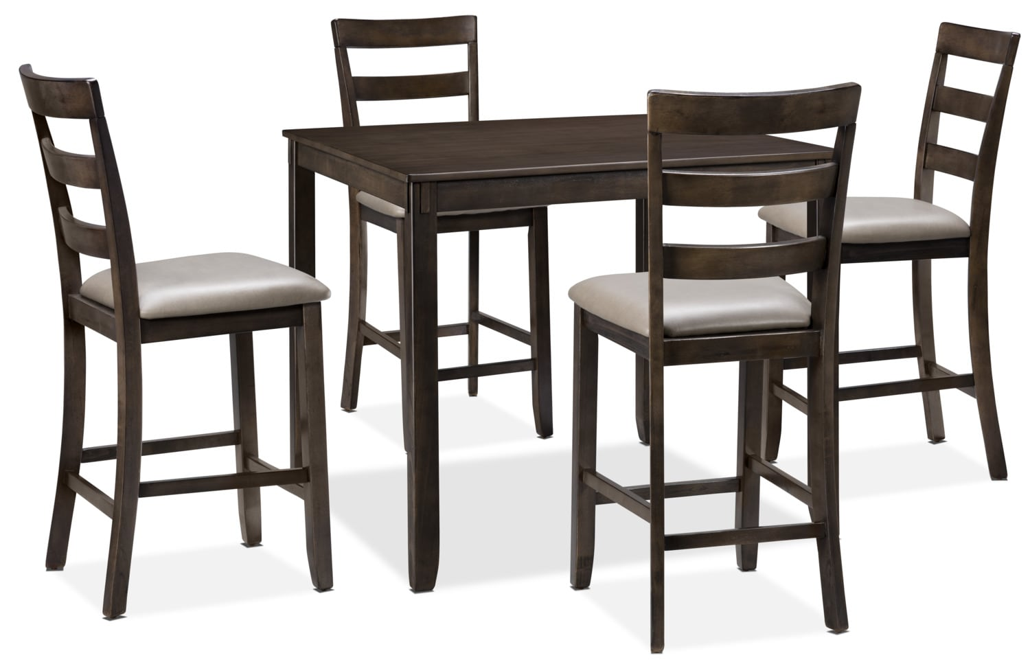 Dining Room Furniture - Tiba 5-Piece Counter-Height Dining Package