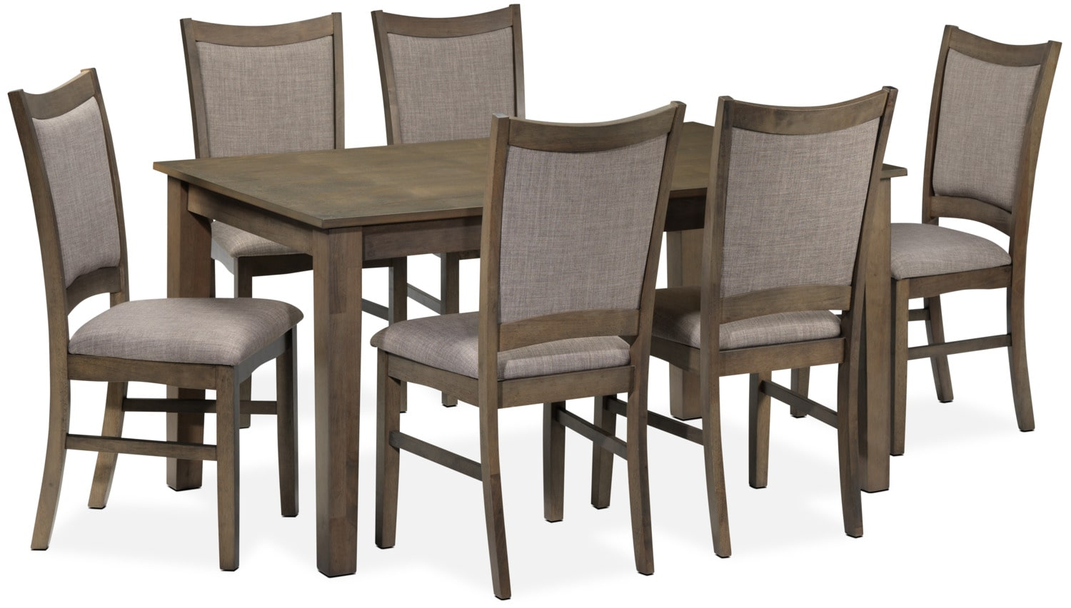 Celeste 7-Piece Dinette Set - Grey
