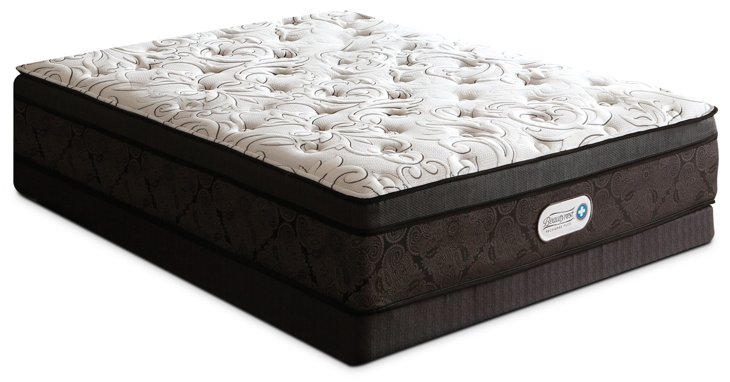 Beautyrest® Recharge Plus Trillium Euro-Top Firm Queen Mattress Set