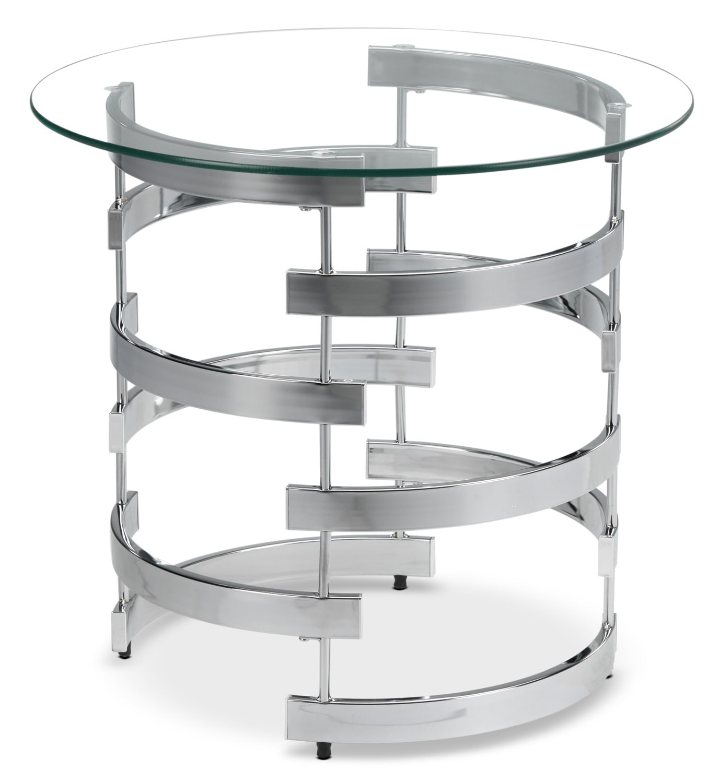 Oracle End Table - Chrome