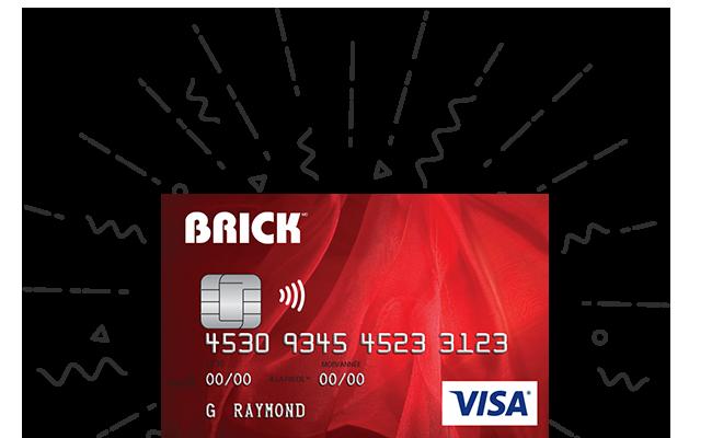 BRICK VISA DESJARDINS CARD