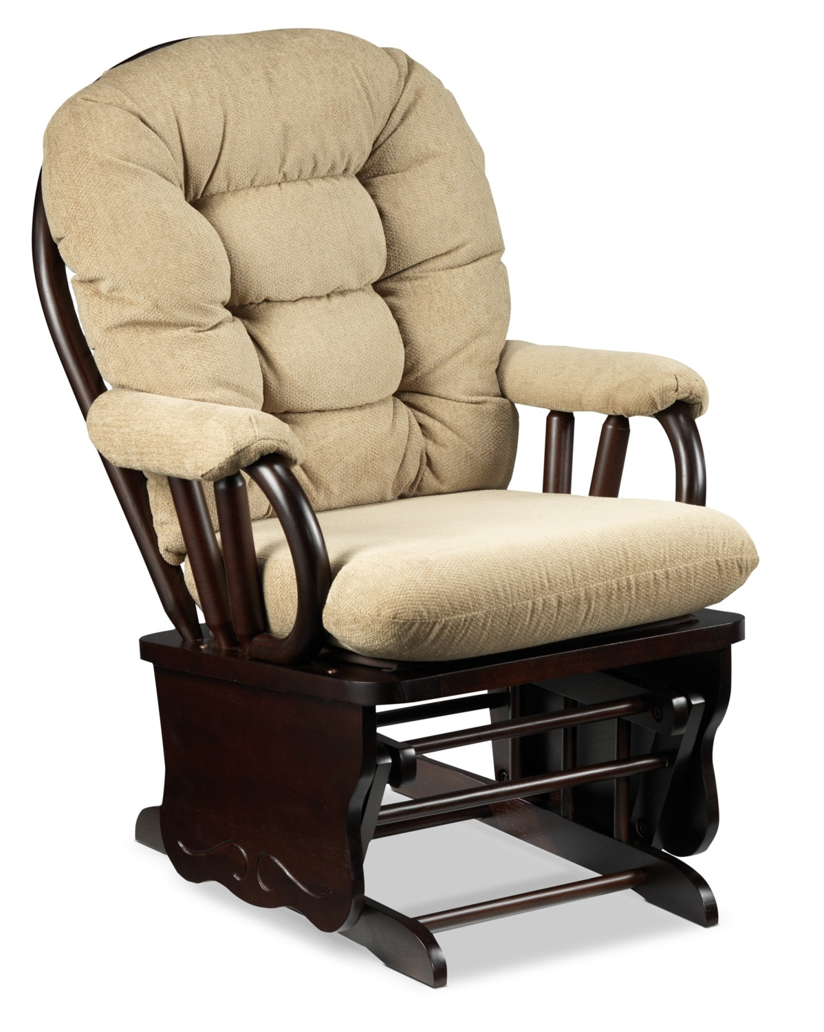 Alexa Glider Chair - Beige and Dark Brown
