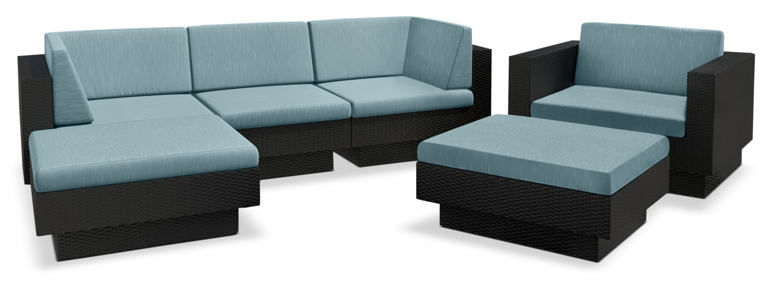 Parkview 6-Piece Patio Sofa Set – Blue