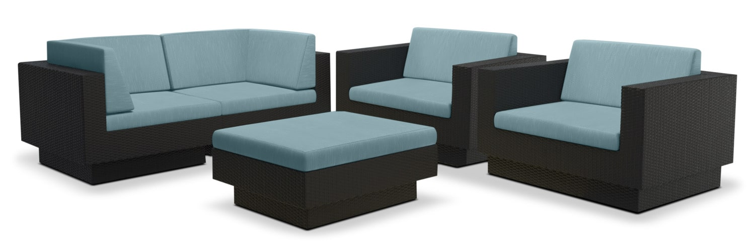 Parkview 5-Piece Patio Sofa Set – Blue