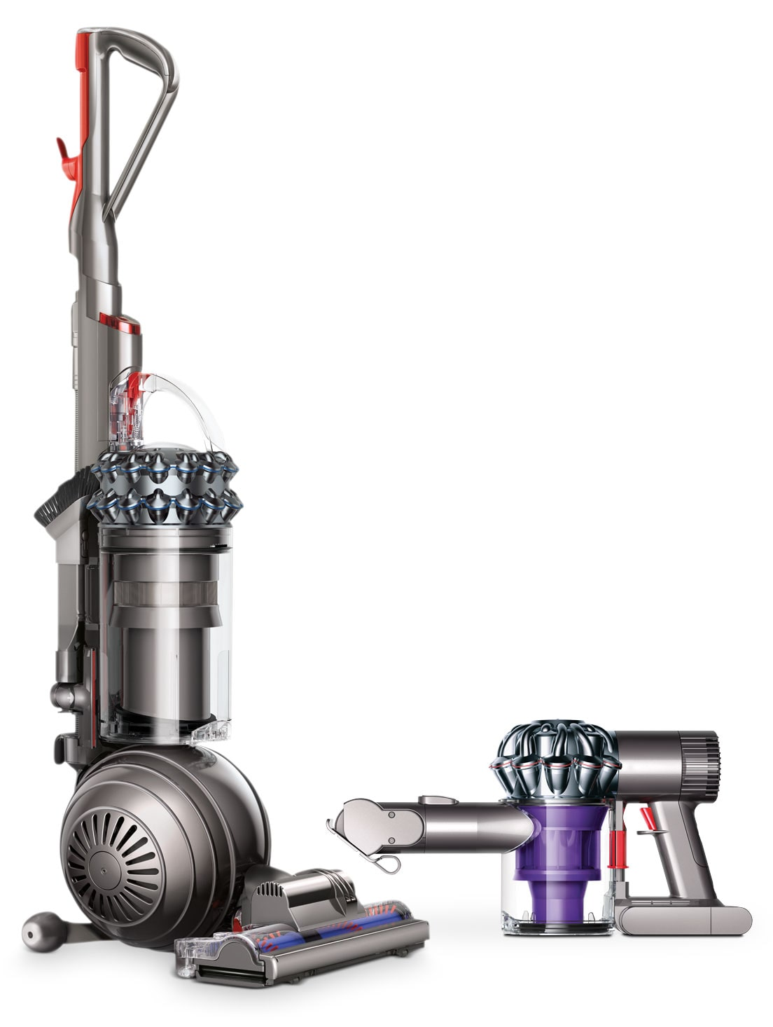 Dyson V6 Trigger Handheld Vacuum and Dyson DC77 Multi-Floor Upright Ball Vacuums
