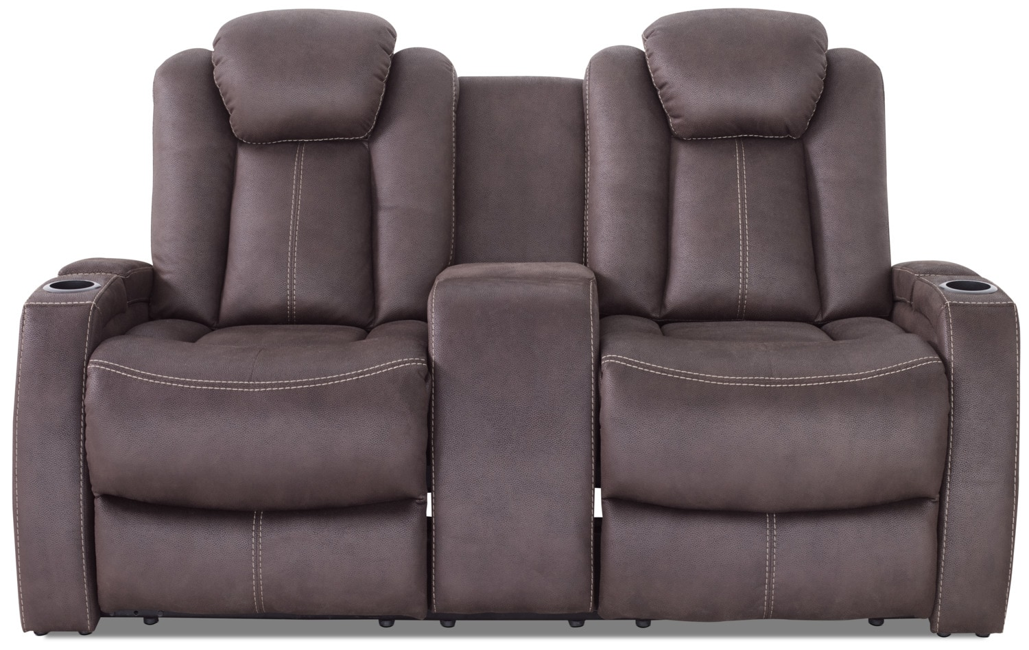 Ross Faux Suede Power Reclining Loveseat – Chocolate
