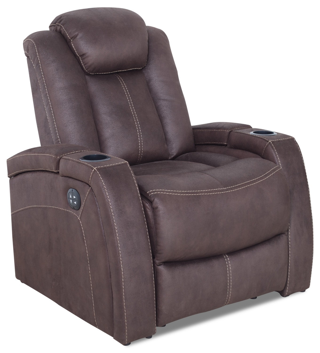 Ross Faux Suede Power Reclining Chair – Chocolate