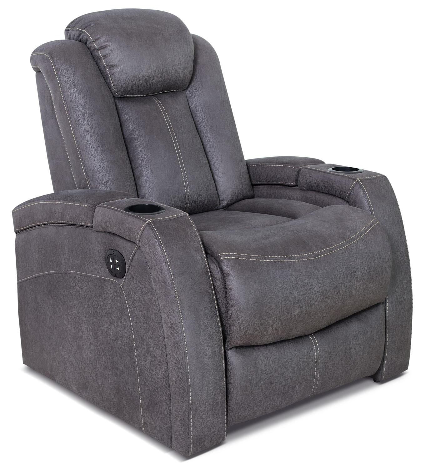 Ross Genuine Leather Power Reclining Chair – Pewter