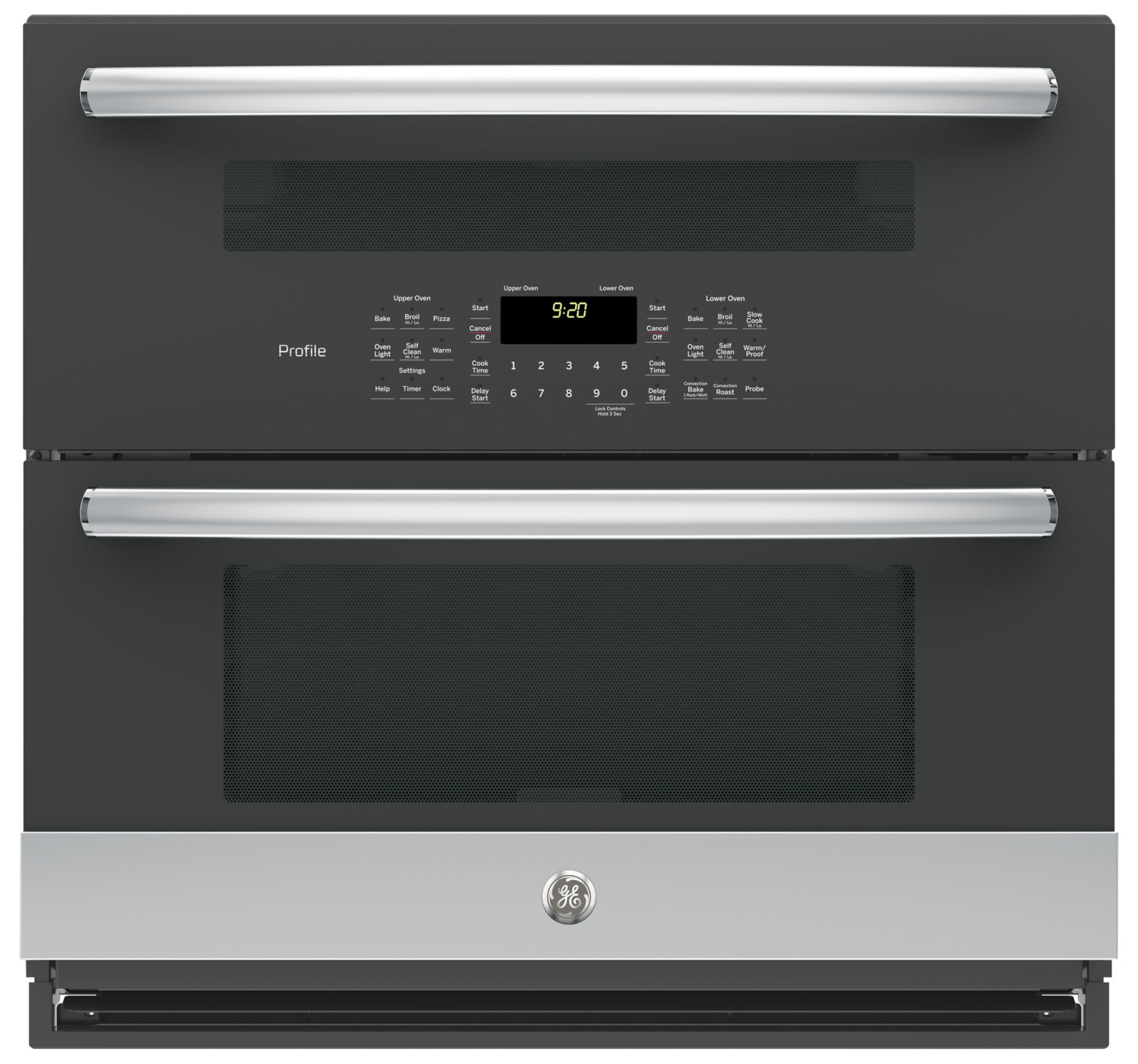 GE Profile Series 5.0 Cu. Ft. Built-In Twin Flex Convection Wall Oven – PT9200SLSS