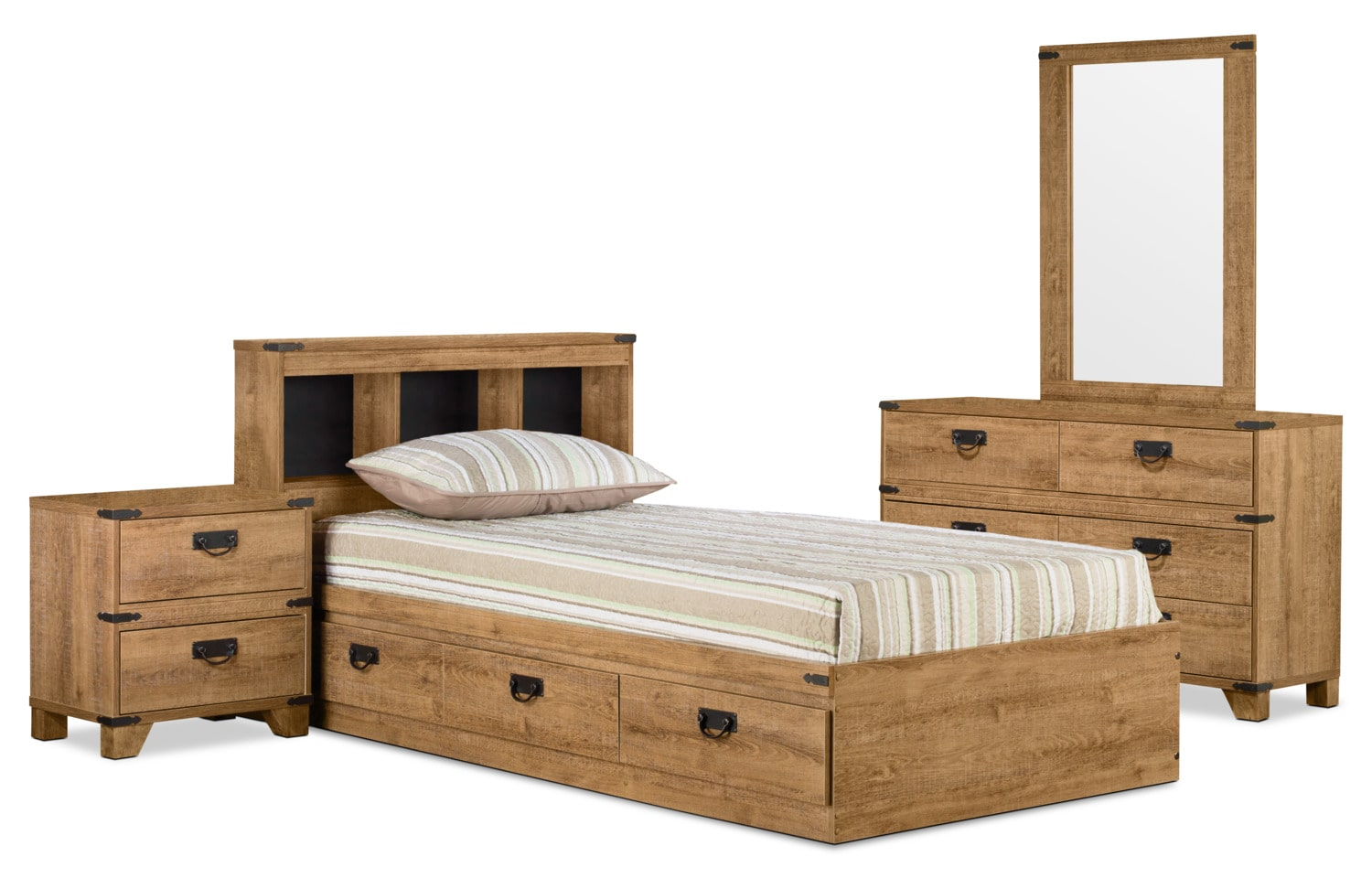 Driftwood Mates 6-Piece Full Bedroom Package