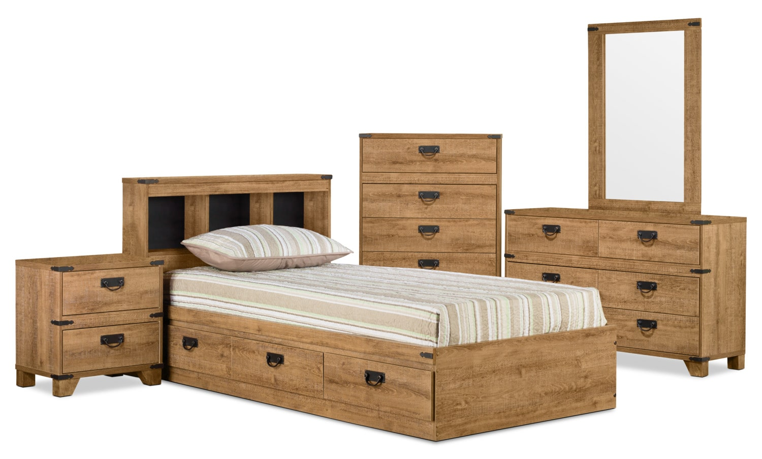 Driftwood Mates 7-Piece Full Bedroom Package