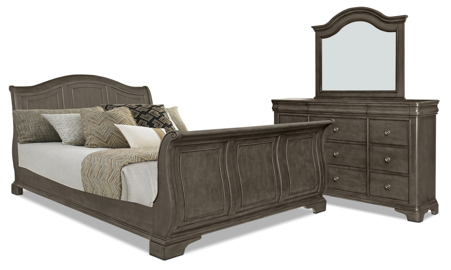 Carmen 5-Piece King Bedroom Package – Grey