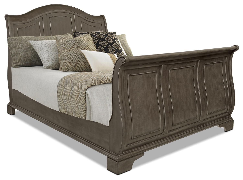 Carmen Queen Sleigh Bed – Grey