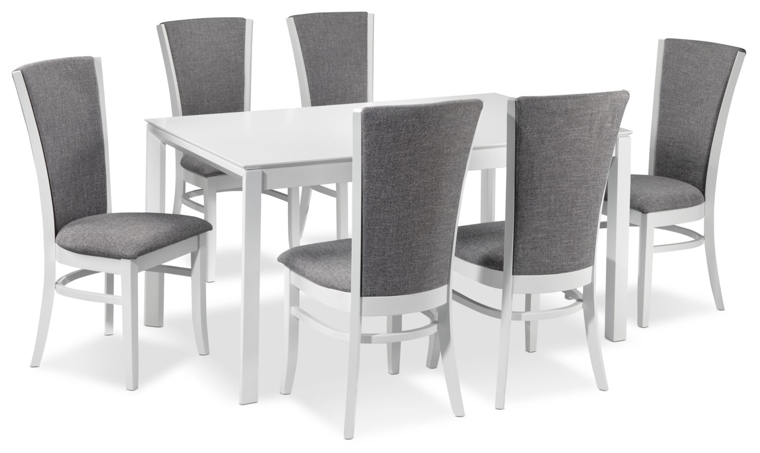 Elizabeth 7-Piece Dinette Set - White and Grey