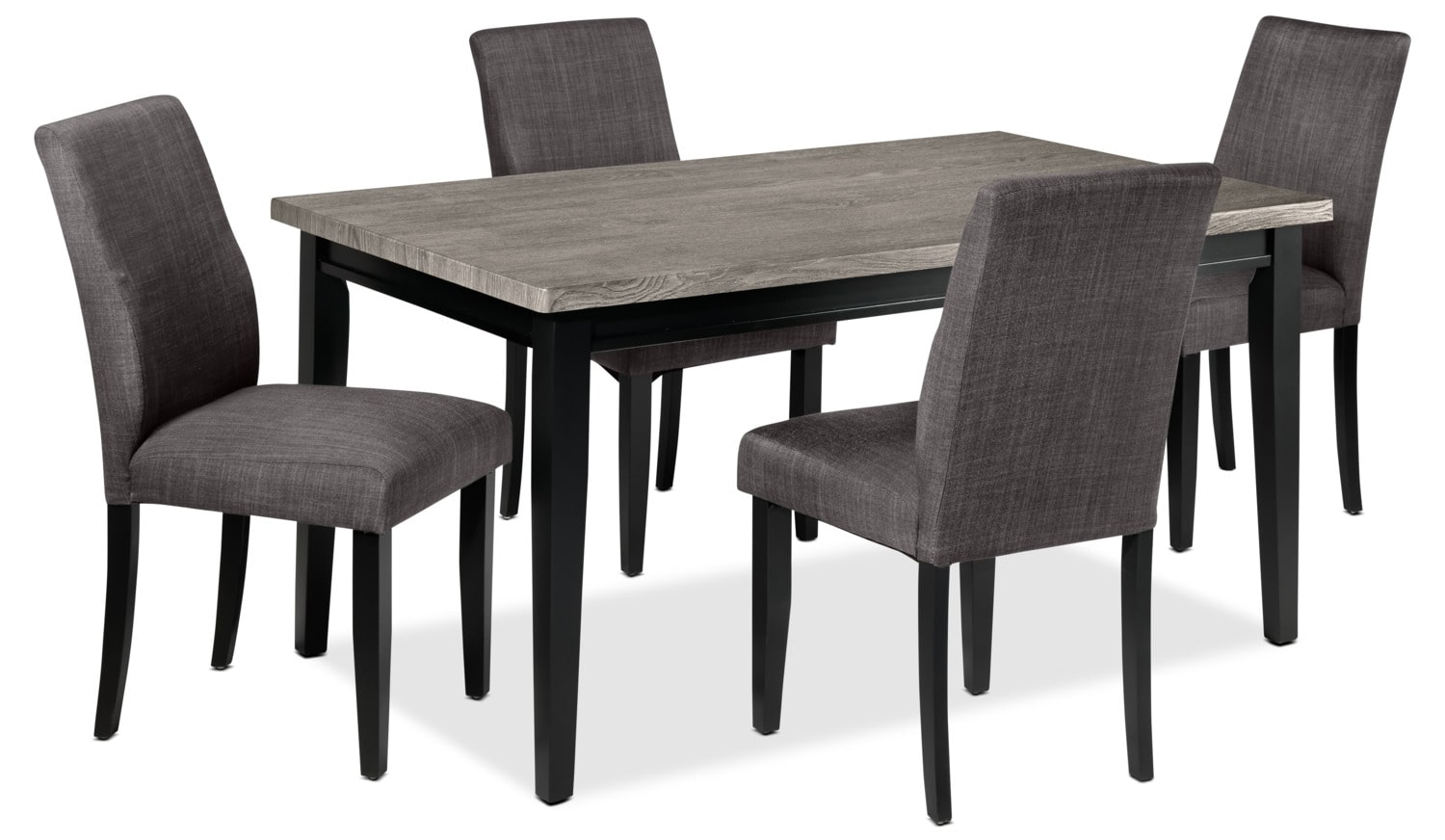 Alfred 5-Piece Dinette Set - Grey and Charcoal