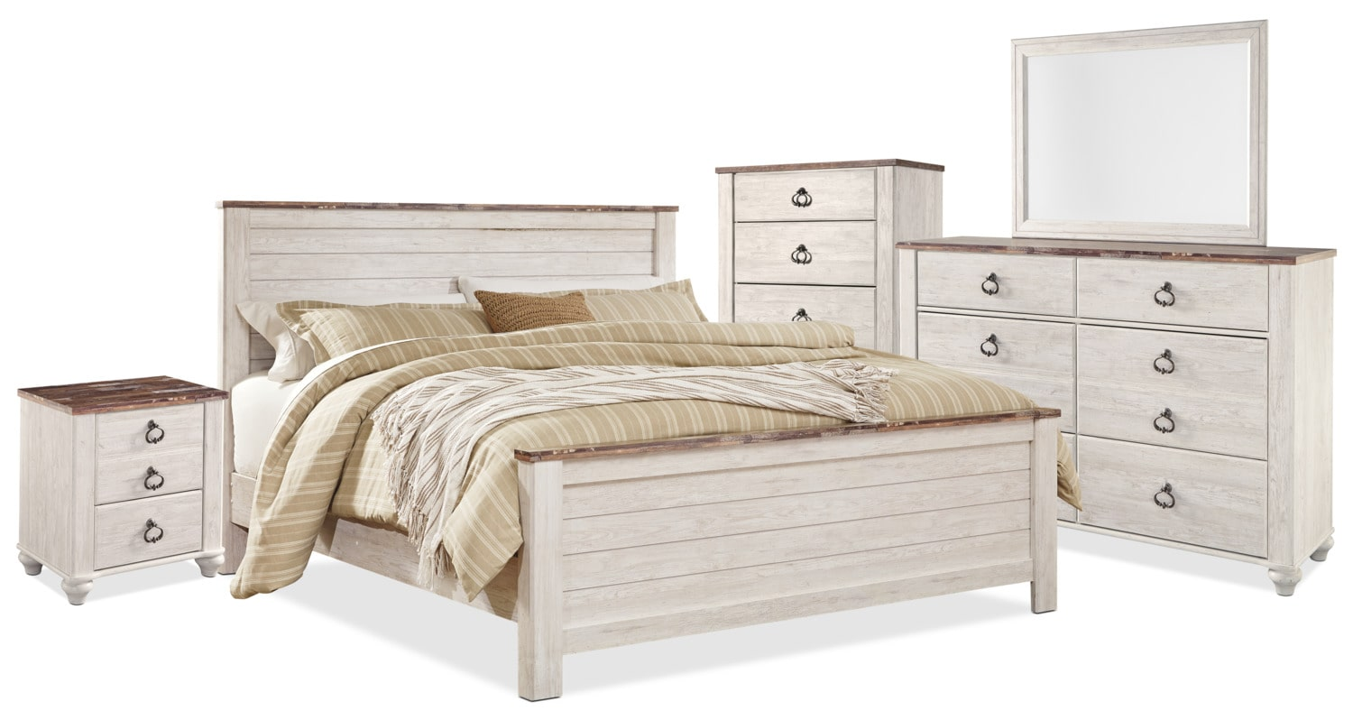 Willowton 7-Piece King Bedroom Package