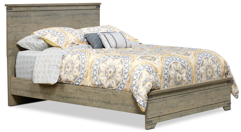 Gramado Queen Bed - Weathered Oak