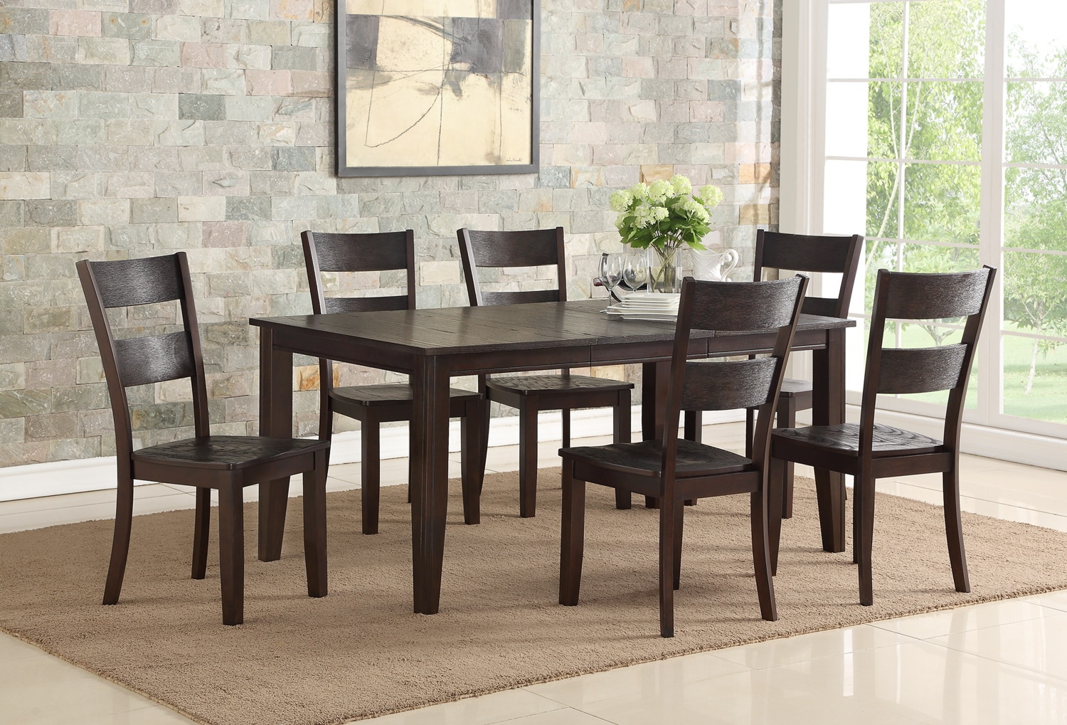Holland 7-Piece Dinette Set - Espresso