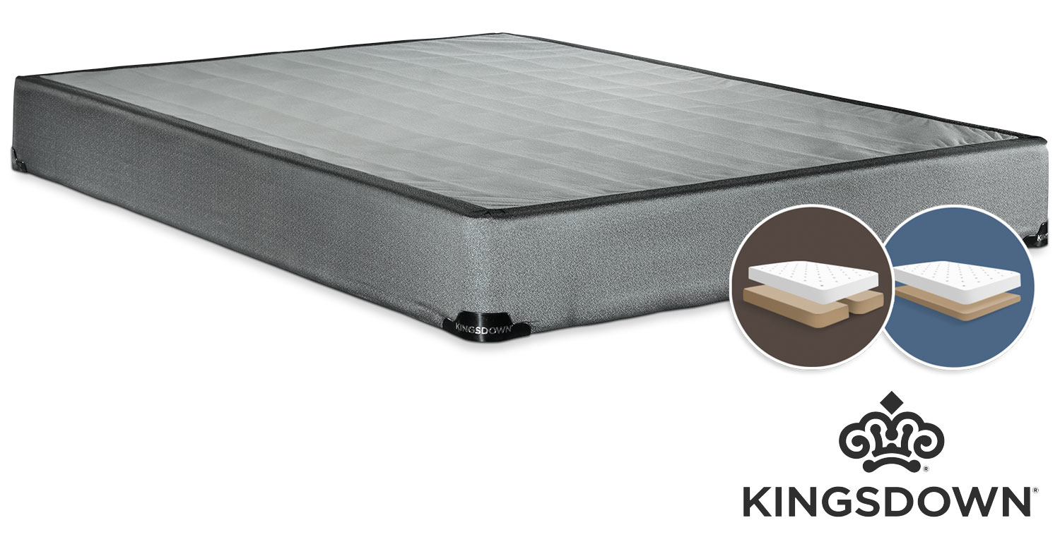 Mattresses and Bedding - Kingsdown Assist Queen Low-Profile Split Boxspring