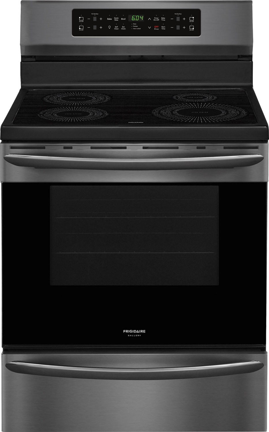 Frigidaire Gallery Black Stainless Steel Electric Induction Range (5.4 Cu. Ft.) - CGIF3036TD