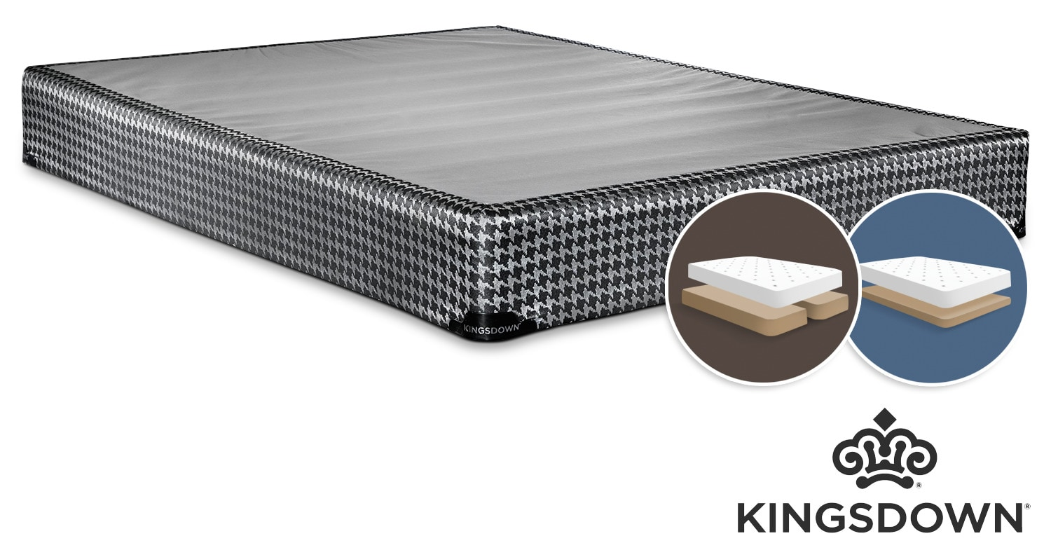 Mattresses and Bedding - Kingsdown Oxygen King Low-Profile Split Boxspring