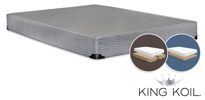 king koil basis king low profile split boxspring leon 39 s. Black Bedroom Furniture Sets. Home Design Ideas