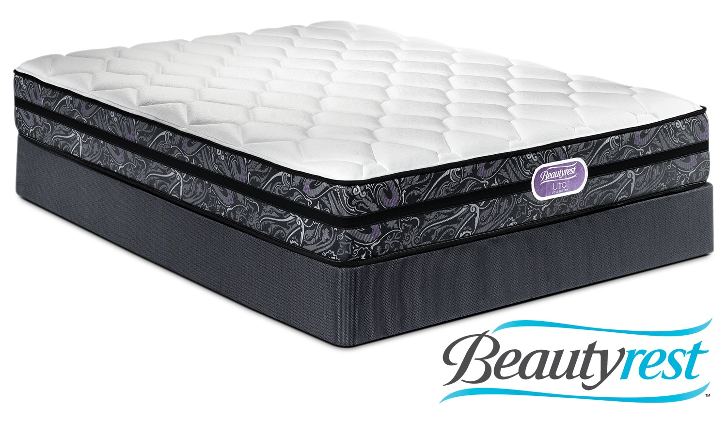 Simmons Beautyrest Ultra Haley Firm Twin Mattress and Boxspring Set