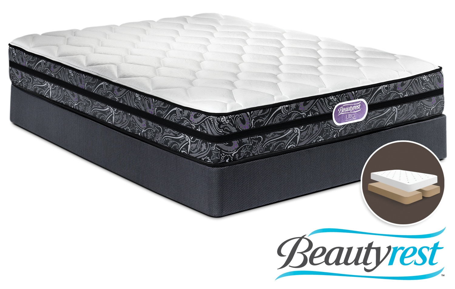 Simmons Beautyrest Ultra Haley Firm Queen Mattress And Split Boxspring Set Leon 39 S