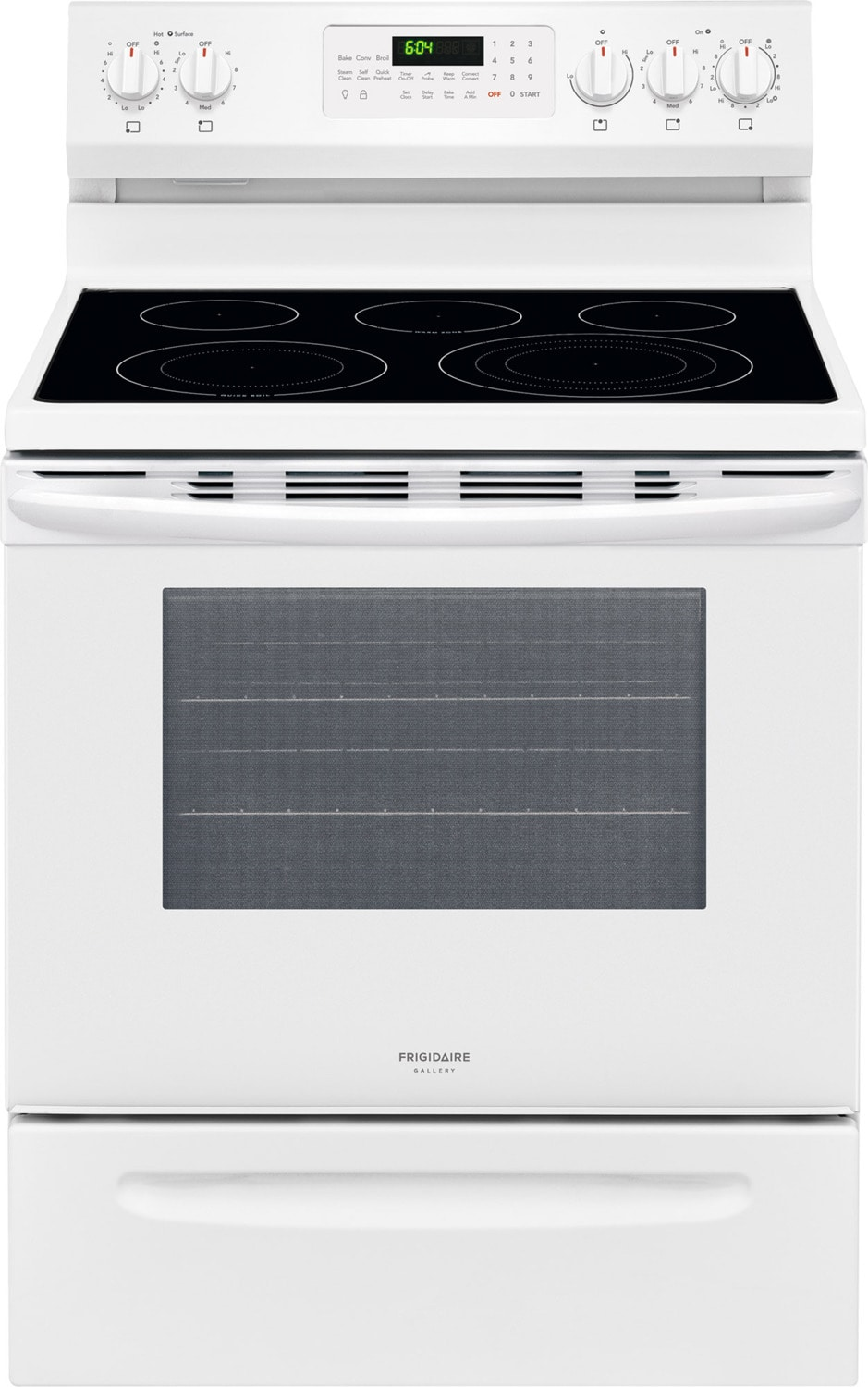 Frigidaire Gallery White Freestanding Electric True Convection Range (5.7 Cu. Ft.) - CGEF3059TW