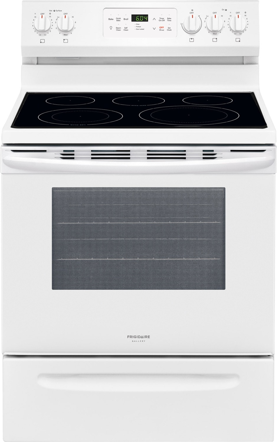 Frigidaire Gallery White Freestanding Electric Convection Range (5.4 Cu. Ft.) - CGEF3037TW