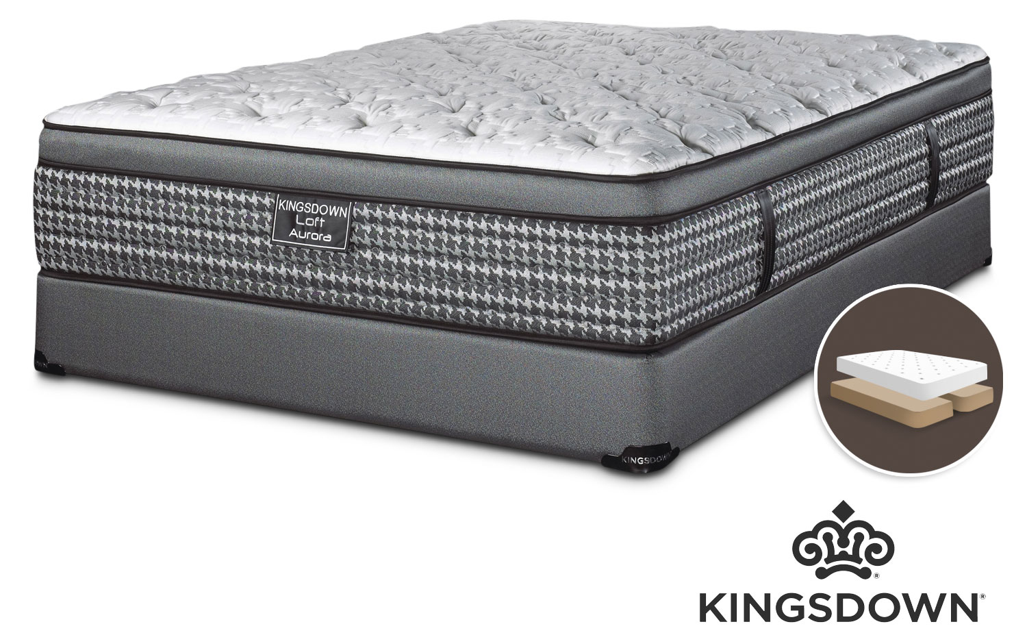 Kingsdown Aurora King Mattress/Boxspring Set