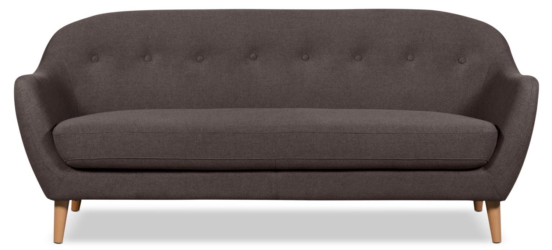 Calla Linen-Look Fabric Sofa – Dark Grey