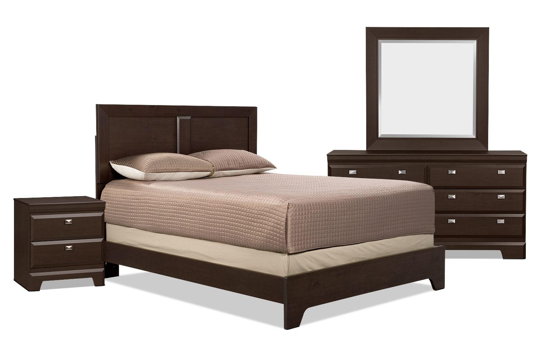 Ensemble de chambre à coucher Yorkdale 6 pièces avec très grand lit