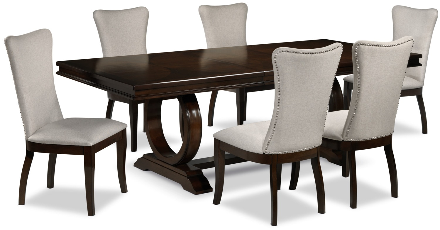 7 piece dining room set hooker furniture vintage west 7 for Best dining table under 500