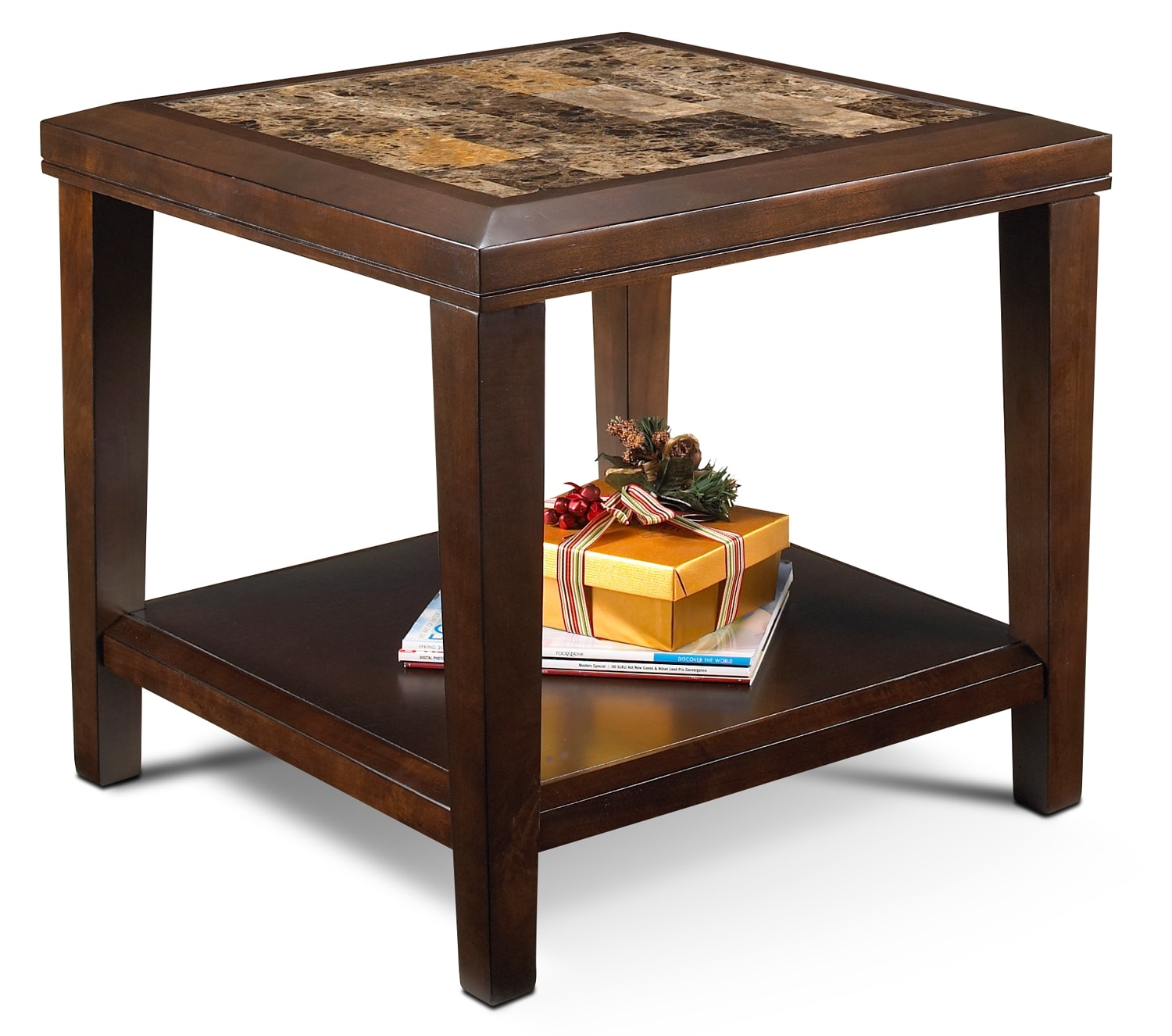 Accent and Occasional Furniture - Dynasty End Table - Brown Cherry