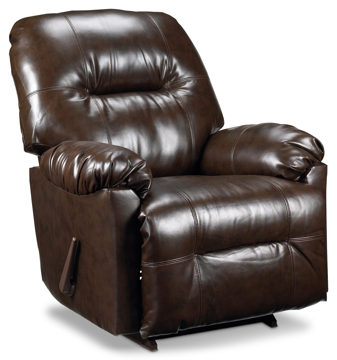Living Room Furniture - Briar Rocker Recliner - Brown