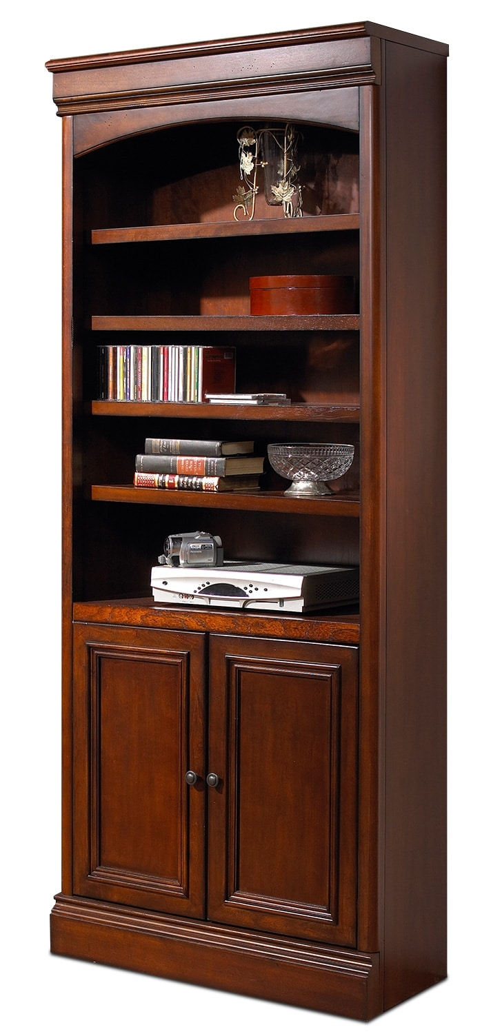 Home Office Furniture - Villa Toscana Door Bookcase - Brown Cherry