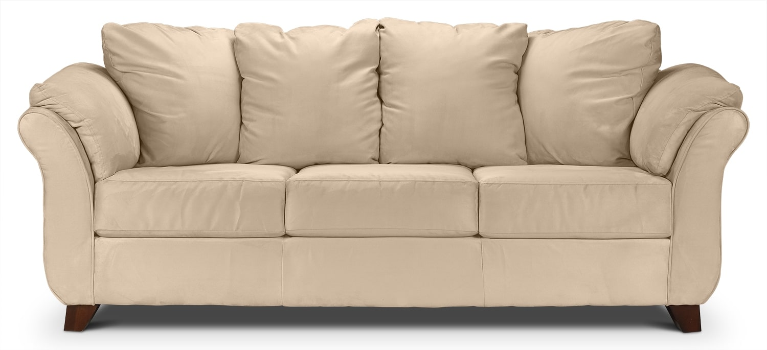Living Room Furniture - Collier Sofa - Beige