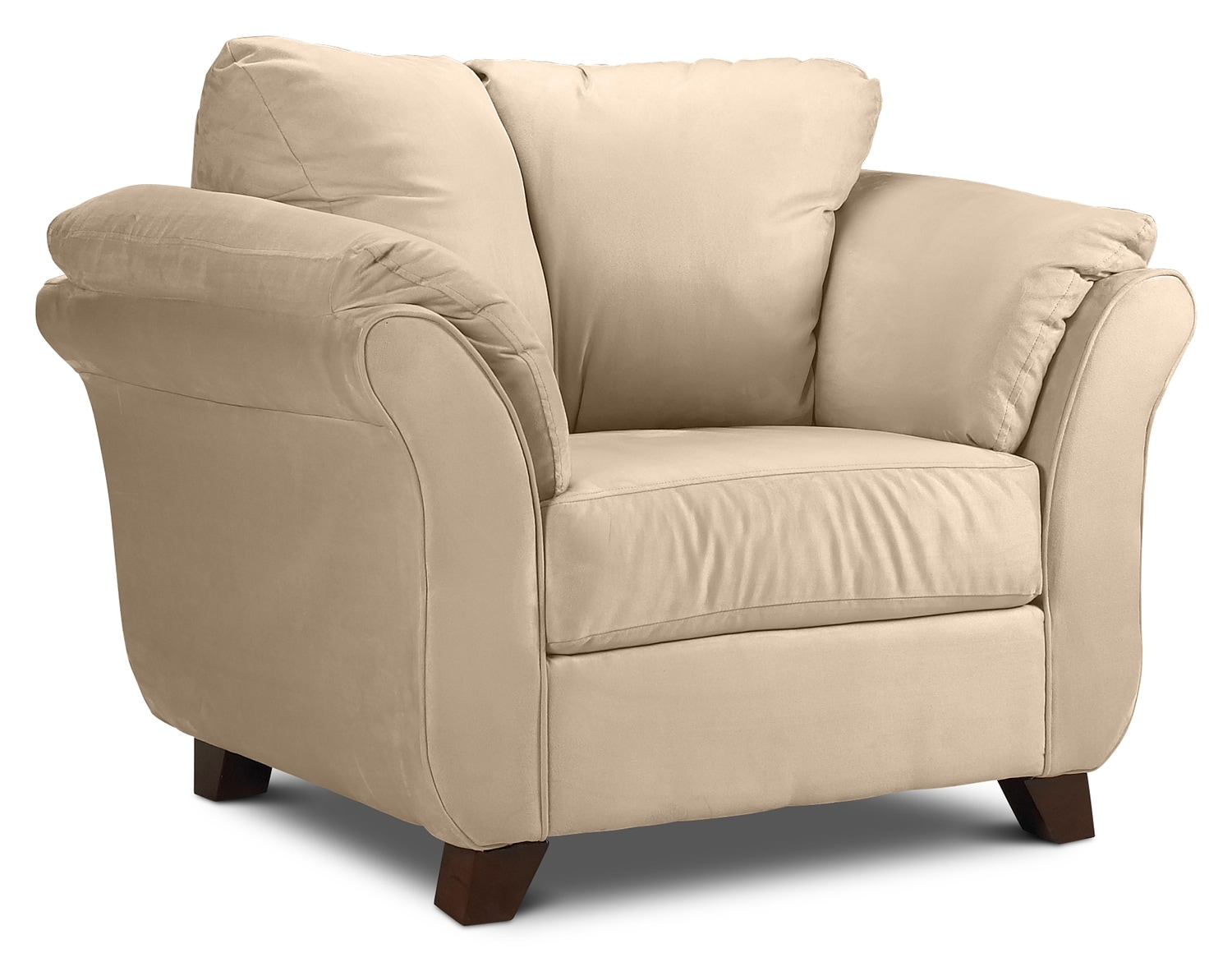 Collier chair beige leon 39 s for Living room single chairs