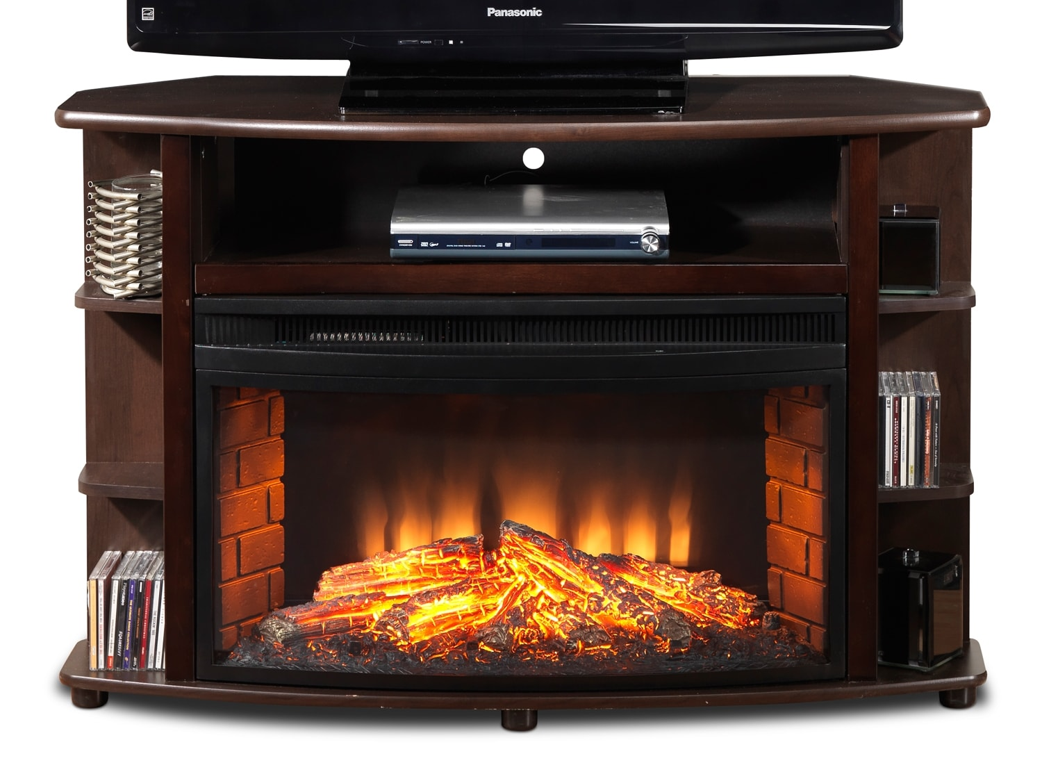 Blaze Corner Fireplace TV Stand
