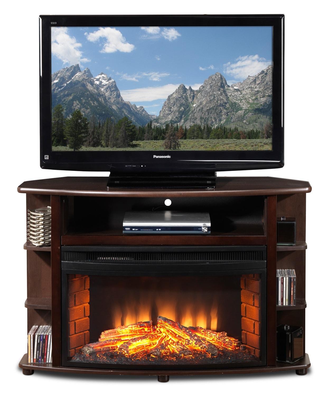 Blaze Corner Fireplace Tv Stand Java Leon 39 S