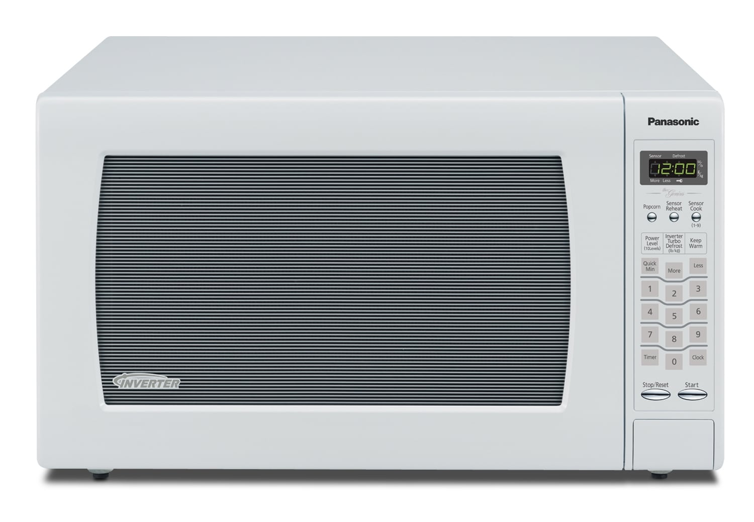 Cooking Products - Panasonic White Microwave (2.2 Cu. Ft.) - NNSN968W