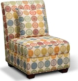 Slipper Chair - Omnia Upholstered Living Room Furniture Collection - Furniture.com
