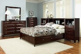 Bedroom Furniture-The Kensington Collection-Kensington Queen Wall Bed with Piers
