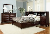 Bedroom Furniture-Kensington 7 Pc. Queen Wall Bedroom