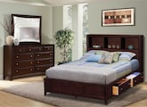 Bedroom Furniture-Kensington 5 Pc. Queen Wall Bedroom